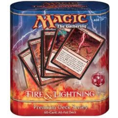 Buy MTG - Premium Deck - Fire & Lightning and more Great Magic: The Gathering Products at 401 Games