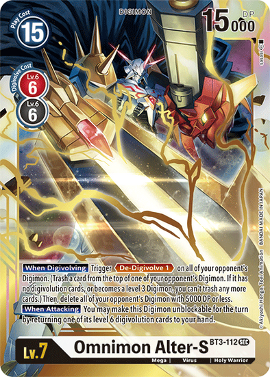 Omnimon Alter-S (BT3-112) available at 401 Games Canada