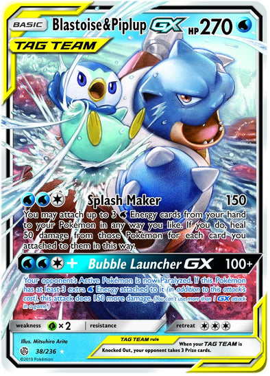 Blastoise & Piplup-GX 38/236 (Pre-Order Oct 28th 2019)