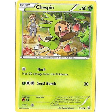 Buy Chespin - 7/162 - Reverse Foil and more Great Pokemon Products at 401 Games