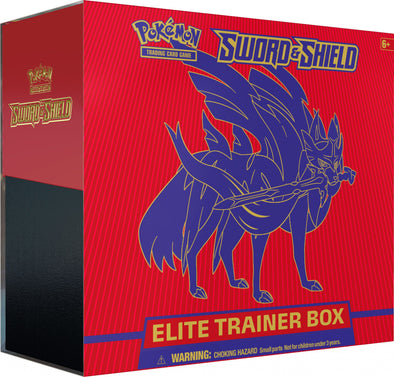 Pokemon - Sword and Shield Elite Trainer Box - Zacian
