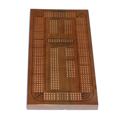 Cribbage - 4 Track Stained Oak- Wood Expressions