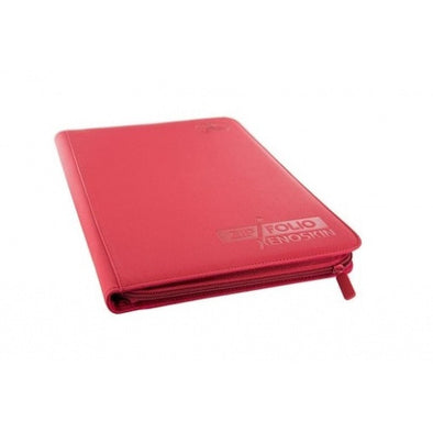 Ultimate Guard - 9 Pocket Xenoskin Zipfolio - Red - 401 Games