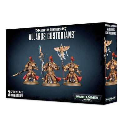 Buy Warhammer 40,000 - Adeptus Custodes - Allarus Custodians and more Great Games Workshop Products at 401 Games