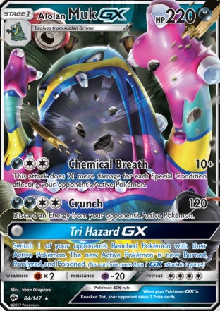 Buy Alolan Muk-GX - 84/147 and more Great Pokemon Products at 401 Games