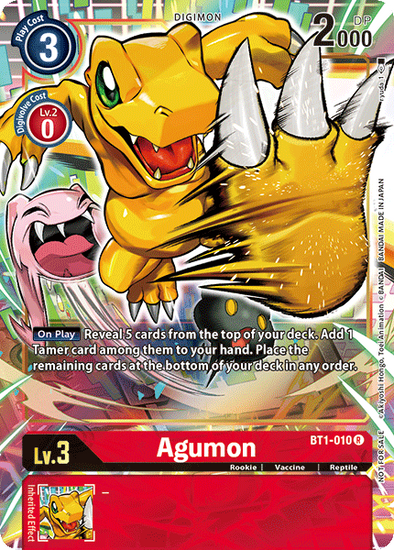 Agumon - Alternative Art (BT1-010) available at 401 Games Canada