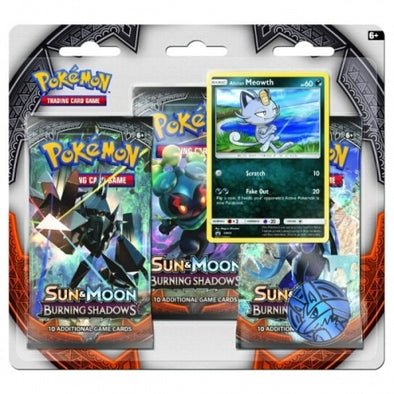 Pokemon - Burning Shadows 3 Pack Blister - Alolan Meowth available at 401 Games Canada