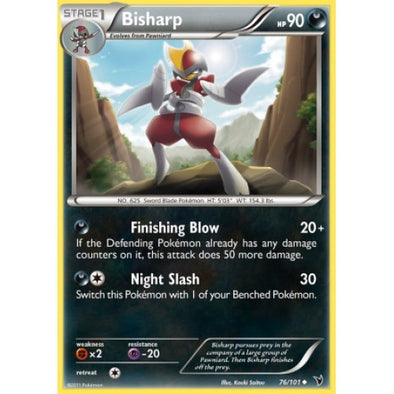 Buy Bisharp - 76/101 - Reverse Foil and more Great Pokemon Products at 401 Games