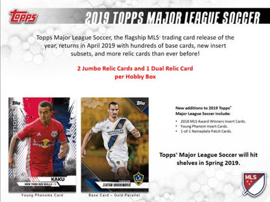 2019 Topps MLS Soccer Hobby Box - 401 Games