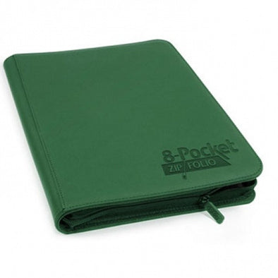 Buy Ultimate Guard - 8 Pocket Quadrow ZipFolio Xenoskin Sideloading Binder - Green and more Great Sleeves & Supplies Products at 401 Games