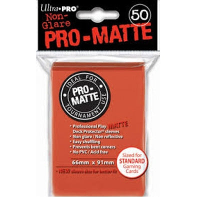 Buy Ultra Pro - Standard Card Sleeves 50ct - Pro-Matte - Peach and more Great Sleeves & Supplies Products at 401 Games