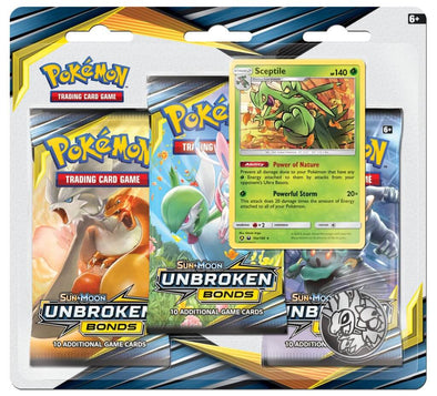 Pokemon - Unbroken Bonds 3 Pack Blister - Sceptile available at 401 Games Canada