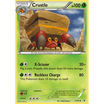 Buy Crustle - 7/101 - Reverse Foil and more Great Pokemon Products at 401 Games