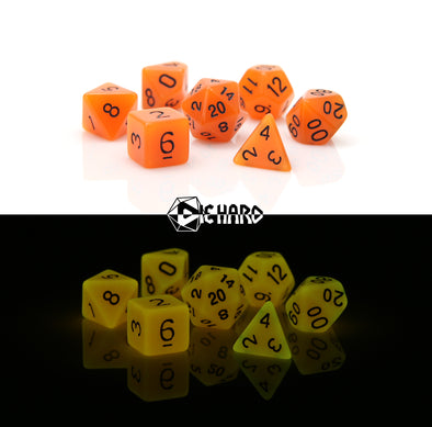 Die Hard - 7 Piece - Glow-In-the-Dark Orange
