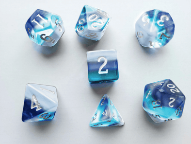 Buy Little Dragon - Birthstone Dice - Aquamarine (March) and more Great Dice Products at 401 Games
