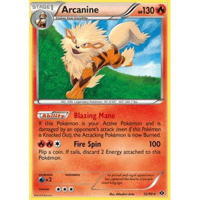 Arcanine - 12/99 - Reverse Foil (NXD012R) available at 401 Games Canada