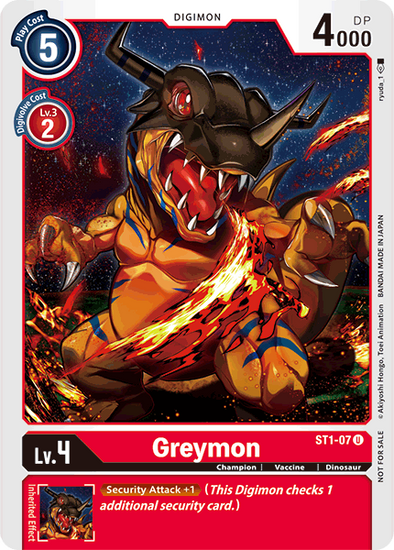 Greymon - Alternative Art (ST1-07) available at 401 Games Canada