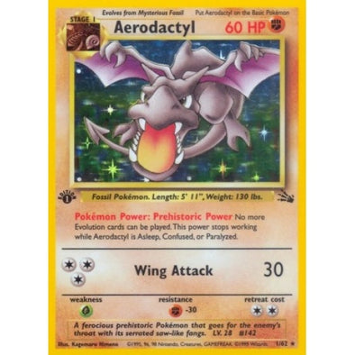 Buy Aerodactyl - 1/62 - 1st Ed (1fos) and more Great Pokemon Products at 401 Games