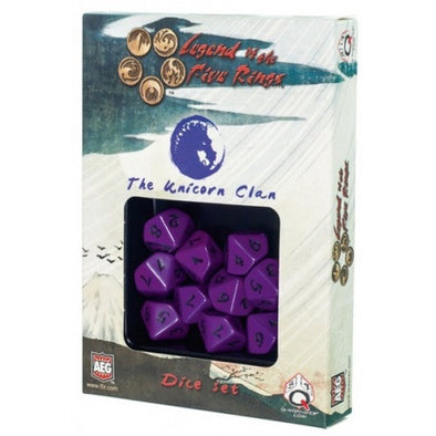 Dice Set - Q-Workshop - Legend of the Five Rings - Unicorn Clan - 401 Games