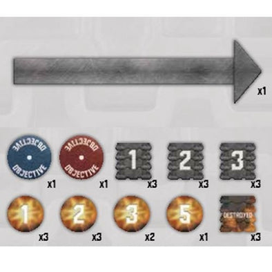 Buy Tanks - Gaming Token Set and more Great Tabletop Wargames Products at 401 Games
