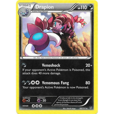 Buy Drapion - 65/111 - Reverse Foil and more Great Pokemon Products at 401 Games