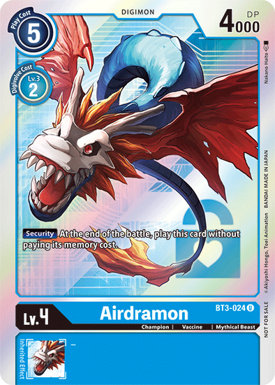 Airdramon - Alternative Art (BT3-024) available at 401 Games Canada
