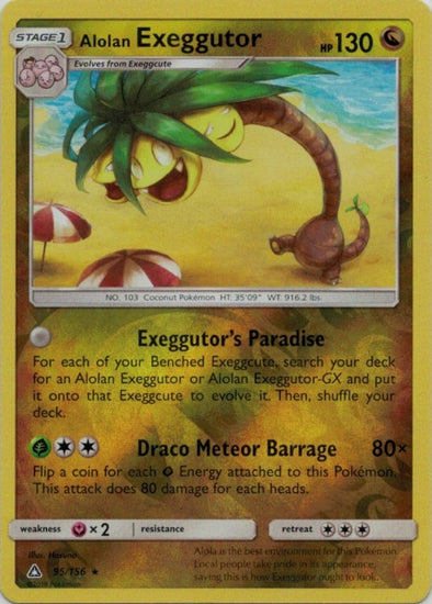 Buy Alolan Exeggutor - 95/156 - Reverse Foil and more Great Pokemon Products at 401 Games