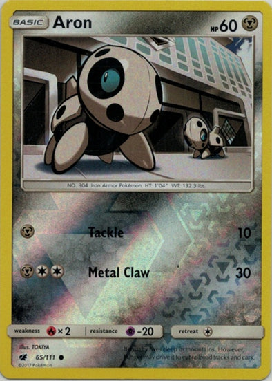 Buy Aron - 65/111 - Reverse Foil and more Great Pokemon Products at 401 Games