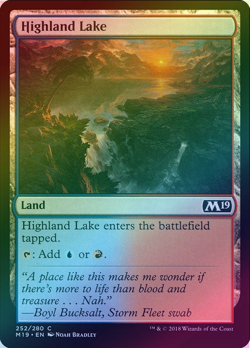 Highland Lake (Foil) (M19) available at 401 Games Canada