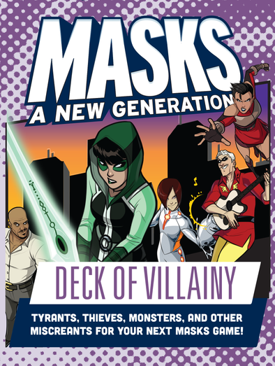 Buy Apocalypse - Masks: A New Generation - Deck of Villainy and more Great RPG Products at 401 Games
