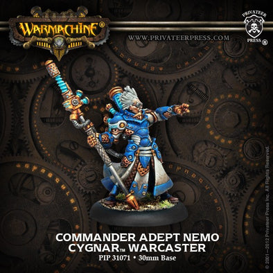 Buy Warmachine - Cygnar - Commander Adept Nemo and more Great Tabletop Wargames Products at 401 Games