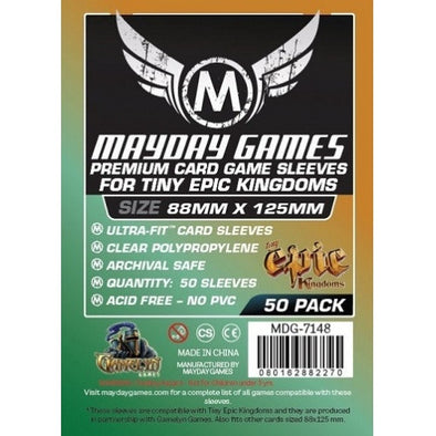 Buy Mayday Games - 50ct - Tiny Epic Sleeves 88 x 125mm and more Great Sleeves & Supplies Products at 401 Games