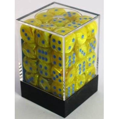 Dice Set - Chessex - 36D6 - Vortex - Yellow/Blue - 401 Games