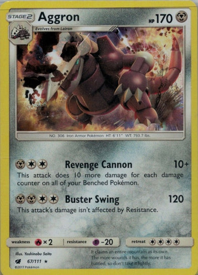 Buy Aggron - 67/111 and more Great Pokemon Products at 401 Games