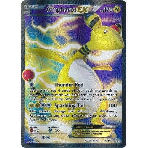 Buy Ampharos-EX - 87/98 - Full Art and more Great Pokemon Products at 401 Games