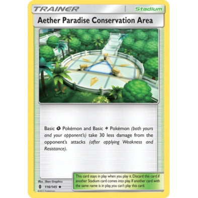 Buy Aether Paradise Conservation Area - 116/145 and more Great Pokemon Products at 401 Games