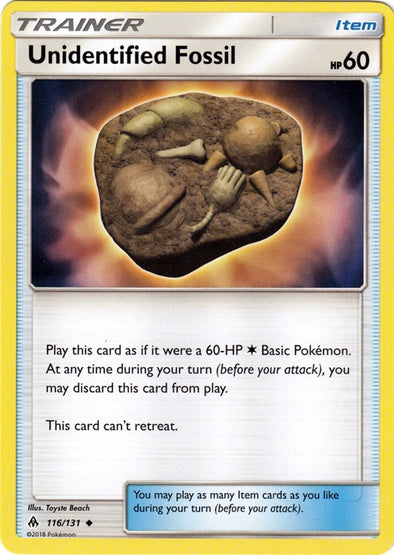 Buy Unidentified Fossil - 116/131 and more Great Pokemon Products at 401 Games