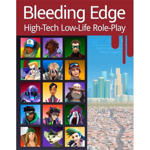 Bleeding Edge: High-Tech Low-Life Role-Play available at 401 Games Canada