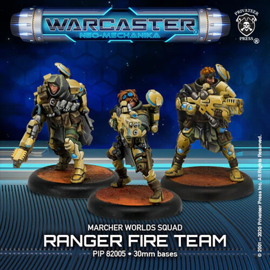 Warcaster - Neo-Mechanika - Marcher Worlds - Ranger Fire Team - 401 Games