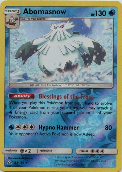 Buy Abomasnow - 38/156 - Reverse Foil and more Great Pokemon Products at 401 Games