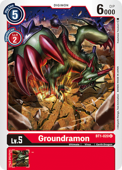 Groundramon (BT1-020) available at 401 Games Canada