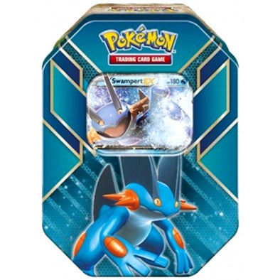 Buy Pokemon - Hoenn Power Tin - Swampert-EX and more Great Pokemon Products at 401 Games
