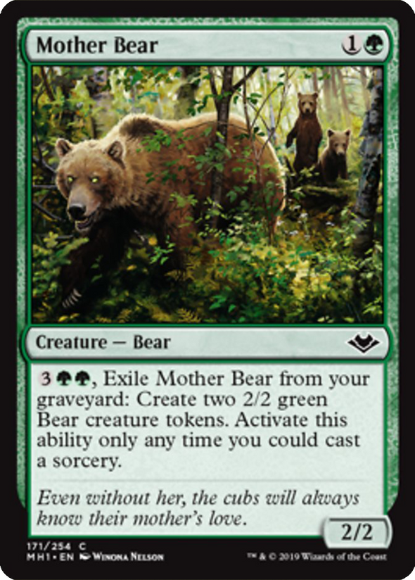Buy Mother Bear (MH1) (Pre-Order) and more Great Magic: The Gathering Products at 401 Games