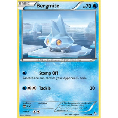 Buy Bergmite - 30/106 - Reverse Foil and more Great Pokemon Products at 401 Games