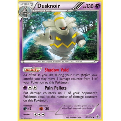 Buy Dusknoir - 40/106 and more Great Pokemon Products at 401 Games