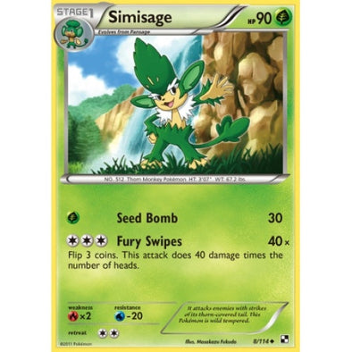 Buy Simisage - 8/114 and more Great Pokemon Products at 401 Games
