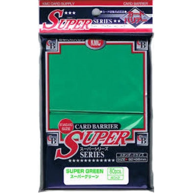 Buy KMC Card Barrier - 80ct Standard Super Sleeves - Green and more Great Sleeves & Supplies Products at 401 Games