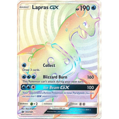 Buy Lapras-GX - 151/149 - Hyper Rare and more Great Pokemon Products at 401 Games