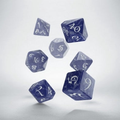 Buy Dice Set - Q-Workshop - 7 Piece Set - Classic - Cobalt/White and more Great Dice Products at 401 Games