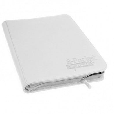 Buy Ultimate Guard - 8 Pocket Quadrow Zip Folio Xenoskin Sideloading Binder - White and more Great Sleeves & Supplies Products at 401 Games